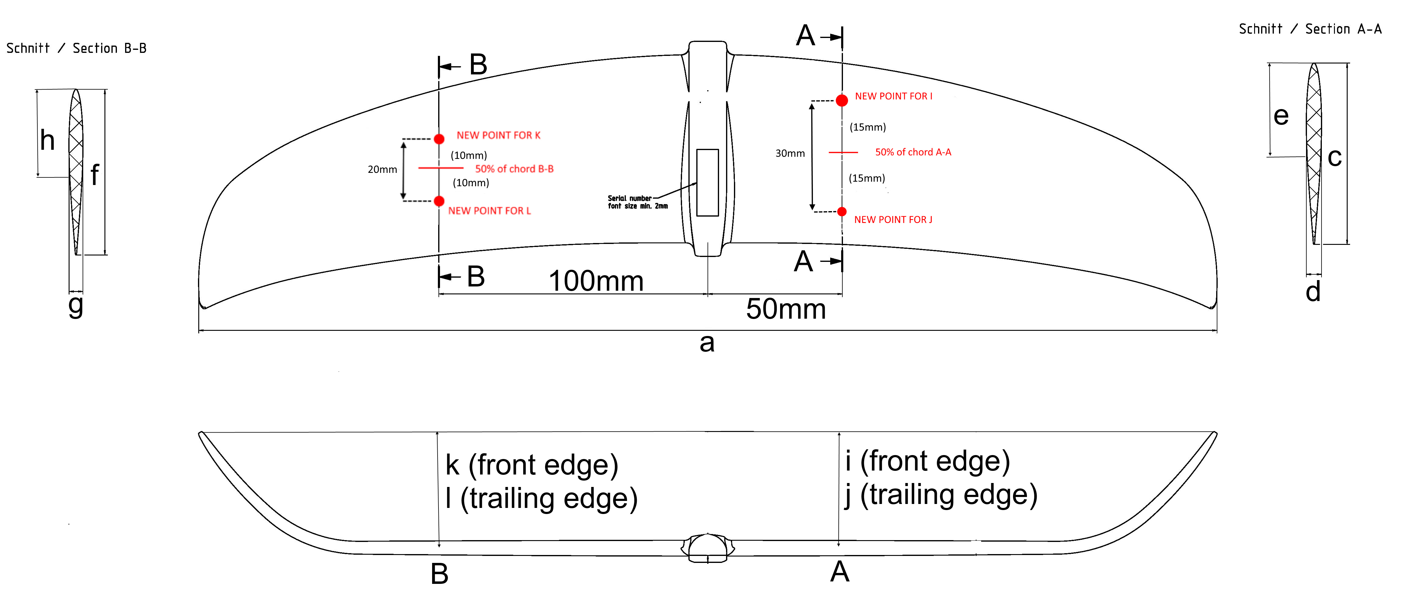 foil measurements rearwing new