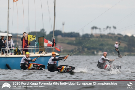France's Mazella and Poland's Damasiewicz claim Gold in a nail-biter Finale of the 2020 Formula Kite Individual Europeans