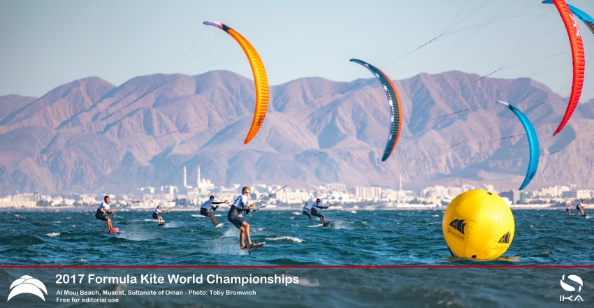 Leaders tighten grip on top spots in stellar conditions at Oman Formula Kite World Championships