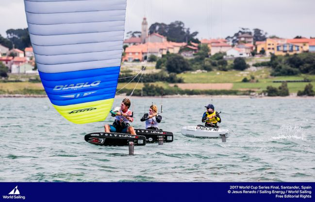 Medal Race places decided for the Foiling Formula Kite Class in Santander Sailing World Cup Final